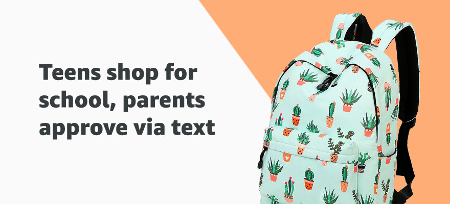 Teens shop for school, parents approve via text