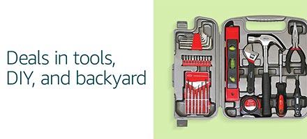 Deals in tools, DIY, and backyard