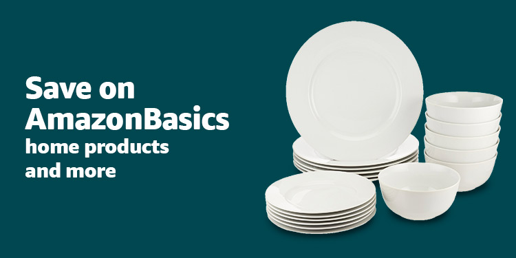Save up to 20% off AmazonBasics for the home