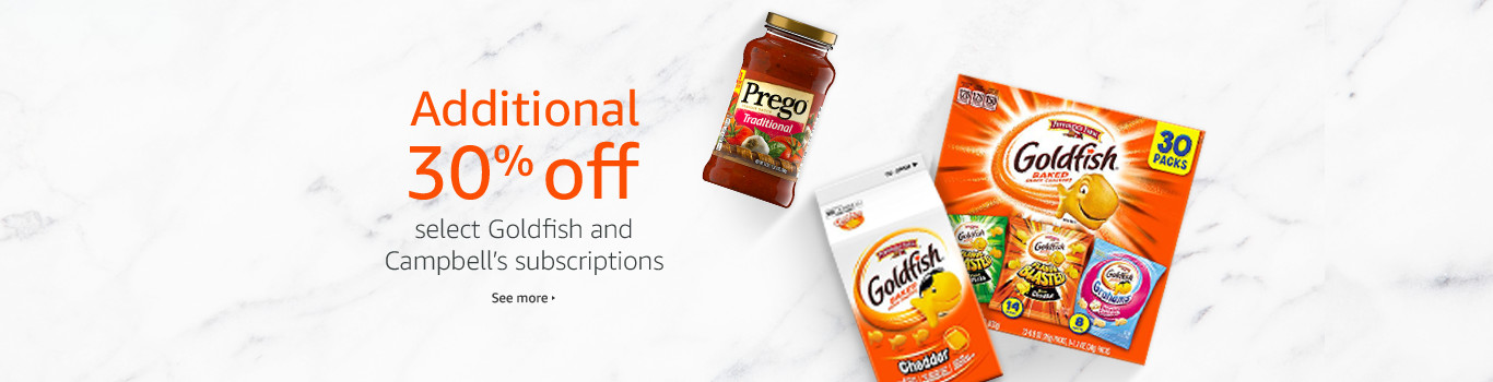 Additional 30% off select Goldfish and Campbell's subscriptions