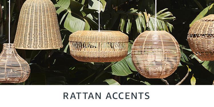 Rattan accents