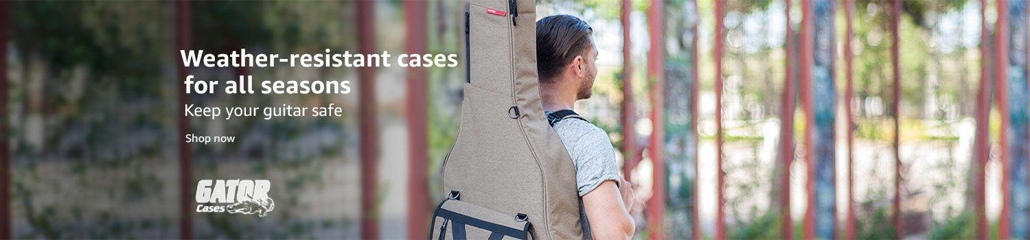Weather resistant cases for all season. Keep your guitar safe with Gator Cases