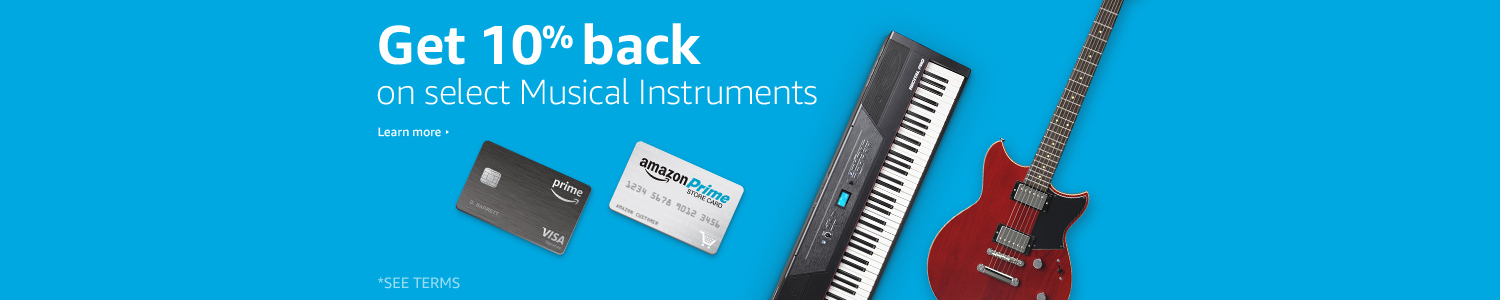 Get 10% back on select Musical Instruments