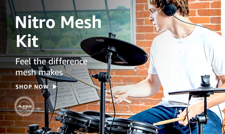 Feel the difference mesh makes; Alesis logo