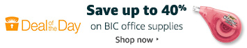 Save up to 40% on BIC office supplies