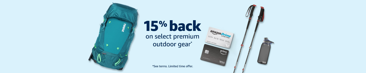 15% back on select premium outdoor gear