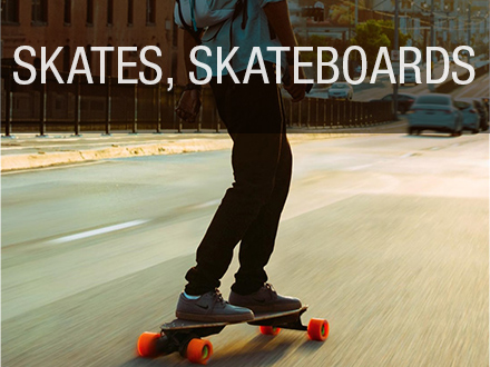 Skates, Skateboards and Scooters