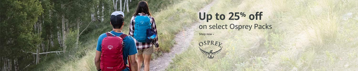 Up to 25% off select Osprey packs