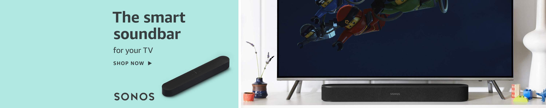 Sonos Beam compact soundbar that works with Alexa