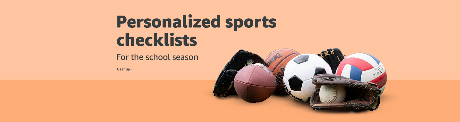 Personalized sports checklists for the school season
