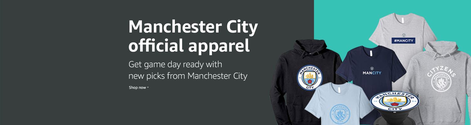 Manchester City official apparel and gear
