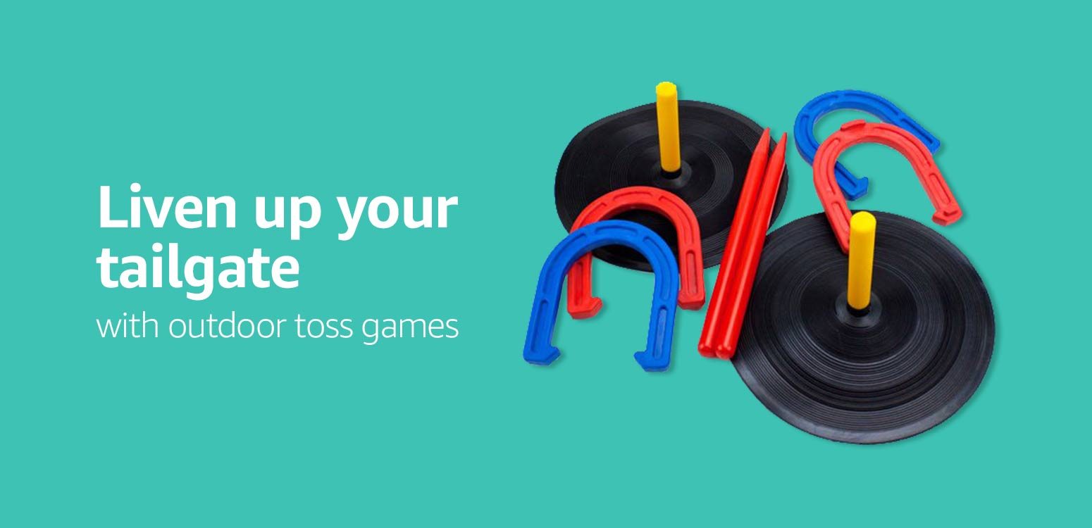 Liven up your tailgate with our variety of toss games
