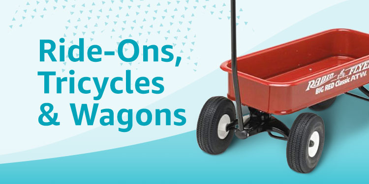 Ride-Ons, Tricycles, & Wagons