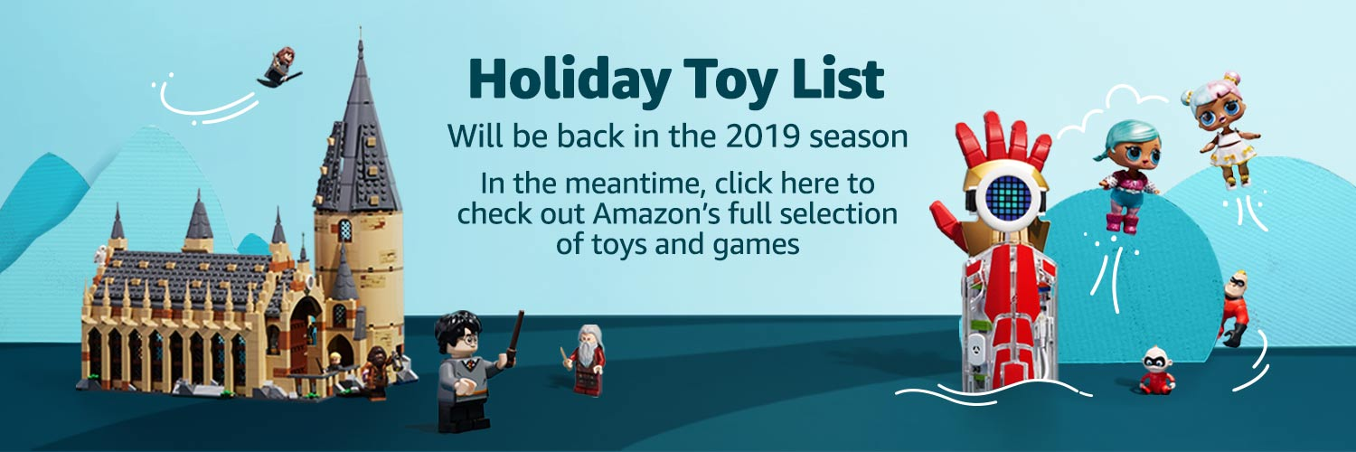 Holiday Toy List will be back soon!