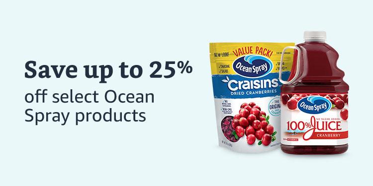 Save 25% on select Ocean Spray