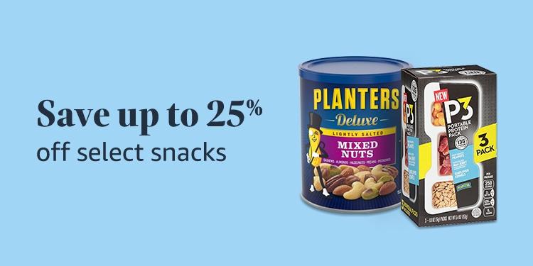 Save 25% on select snacks