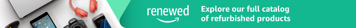 Amazon Renewed. Explore our full catalog of certified refurbished products.