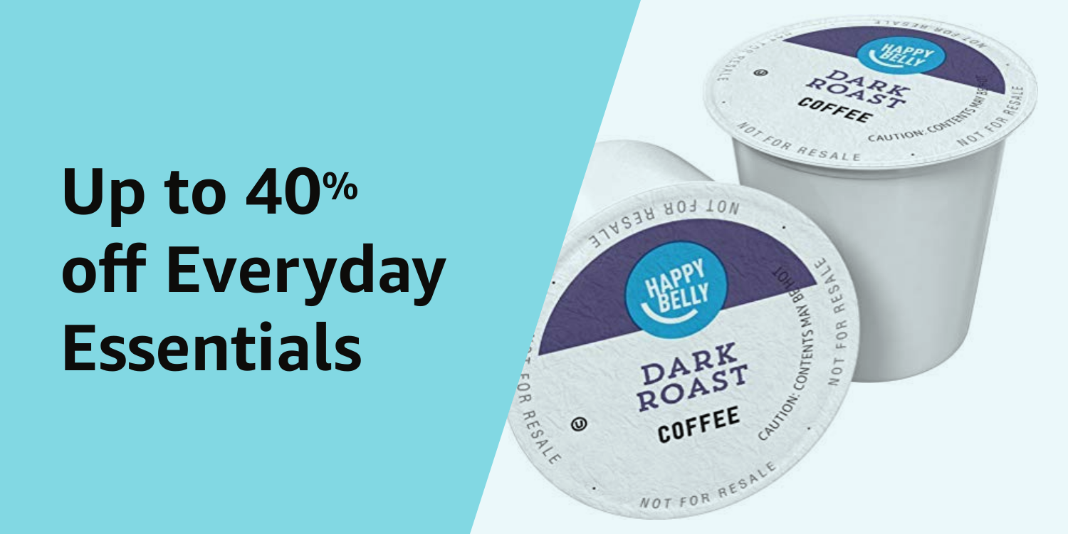 Up to 40% off Everyday Essentials