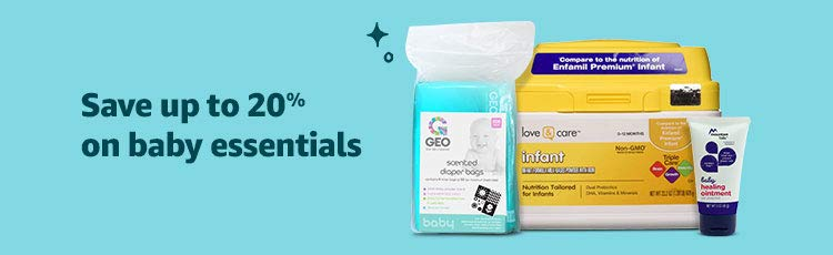 Save up to 20% on baby essentials