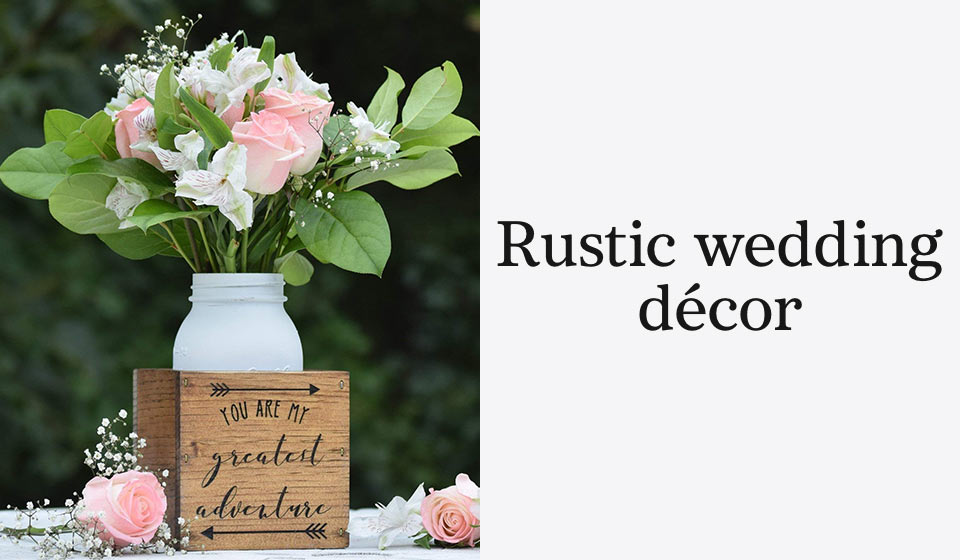 Rustic wedding décor
