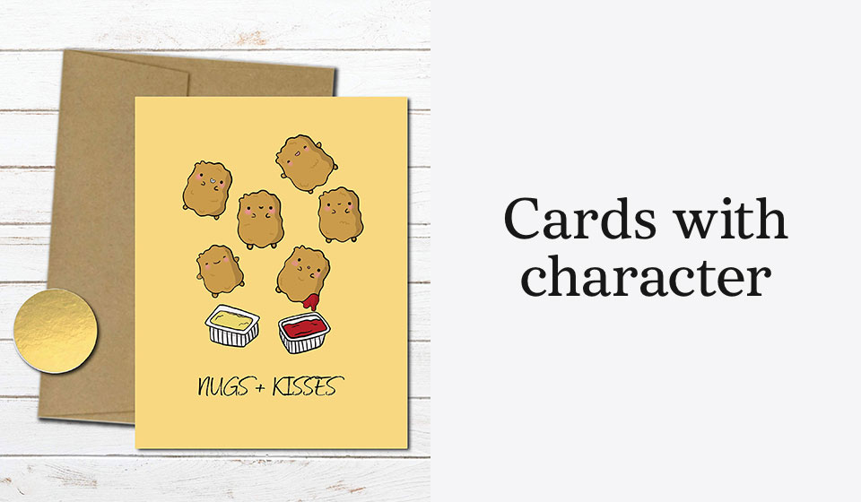 Cards with character