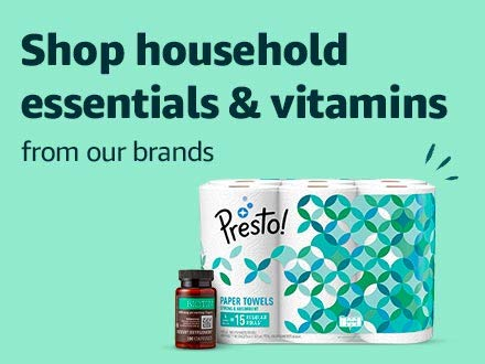 Shop household essentials & vitamins from our brands
