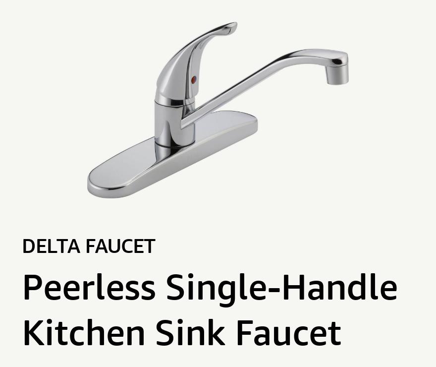 Delta Faucet Peerless Single-Handle Kitchen Sink Faucet