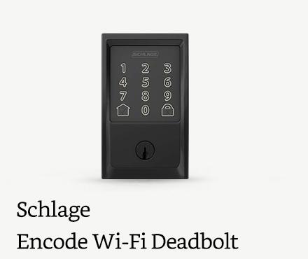 Schlage Encode Smart Wi-Fi Deadbolt, Matte Black