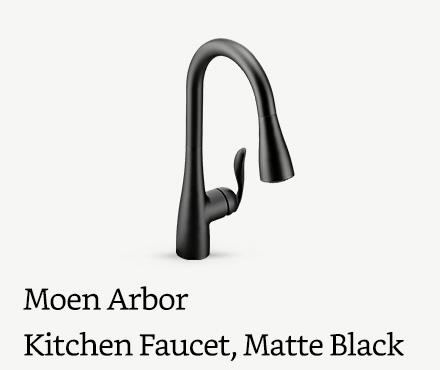 Moen Arbor One-Handle Kitchen Faucet, Matte Black