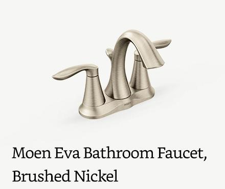 Moen Eva Two-Handle Bathroom Faucet, Brushed Nickel