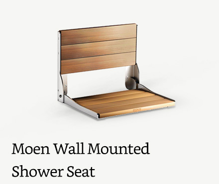 Moen Wall Mounted Folding Shower Seat, Chrome