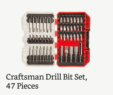 Craftsman Drill Bit Set, 47 Pieces