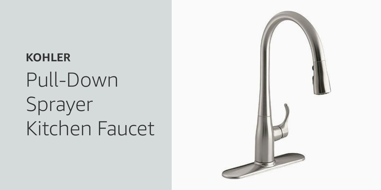 Kohler Pull-Down Sprayer Kitchen Faucet