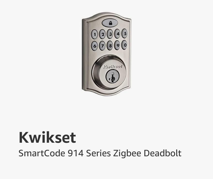 Kwikset Smart Code 914 Series Zigbee Deadbolt