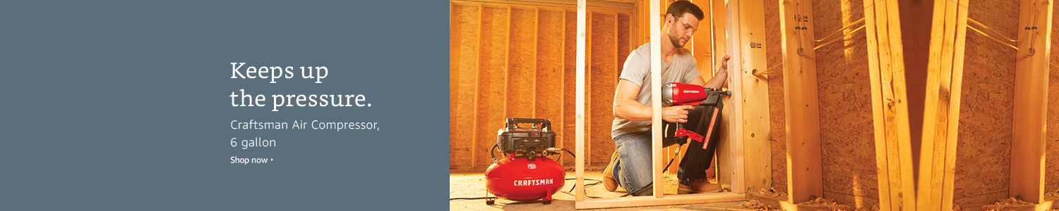 Keeps up the pressure. Craftsman Air Compressor, 6 gallon. Shop now.