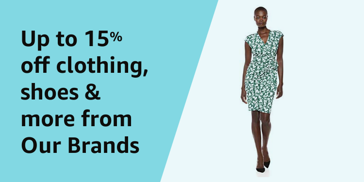 Up to 15% off clothing, shoes & more from Our Brands