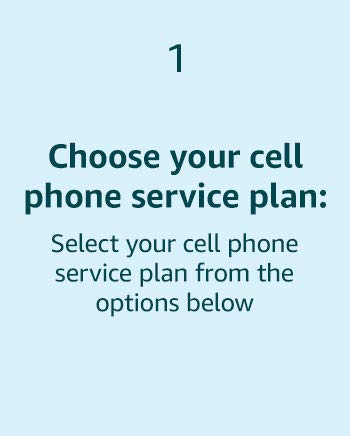 Choose your Cell Phone service plan