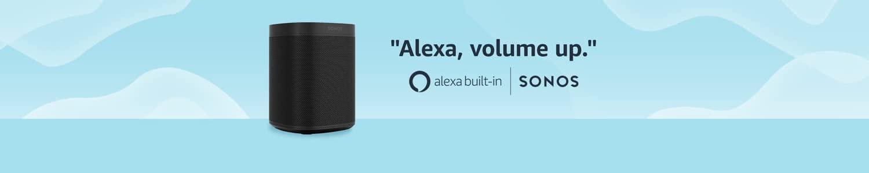 Sonos One speaker | Alexa, volume up. | Alexa built-in