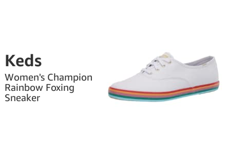 Keds Women's Champion Rainbow Foxing Sneaker