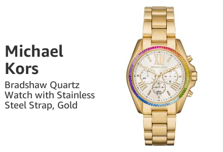 Michael Kors Bradshaw Quartz Watch with Stainless Steel Strap, Gold