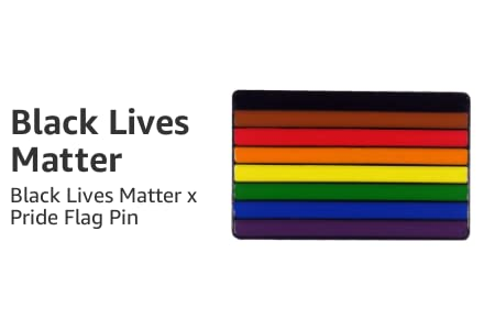 Black Lives Matter x Pride Pin