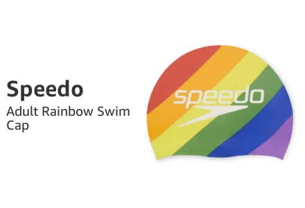 Adult Rainbow Swim Cap