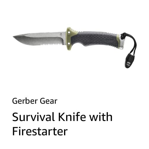 Survival Knife with Firestarter