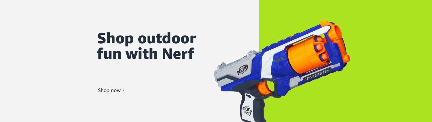 Shop outdoor fun with Nerf