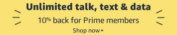 Unlimited talk, text and data wireless plans, 10% credit for Prime Members