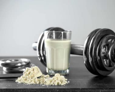 Protein shake and powder