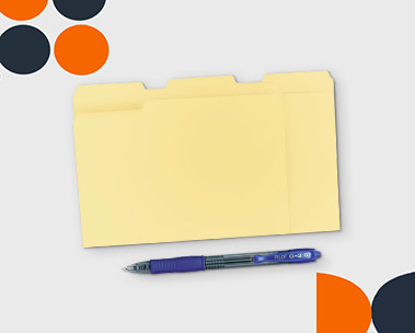 Binders, folders and more