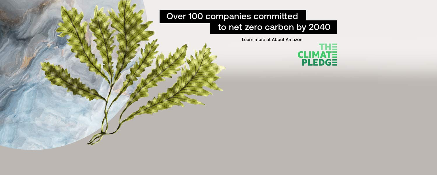 Over 100 companies committed to net zero carbon by 2040. Learn more at About Amazon