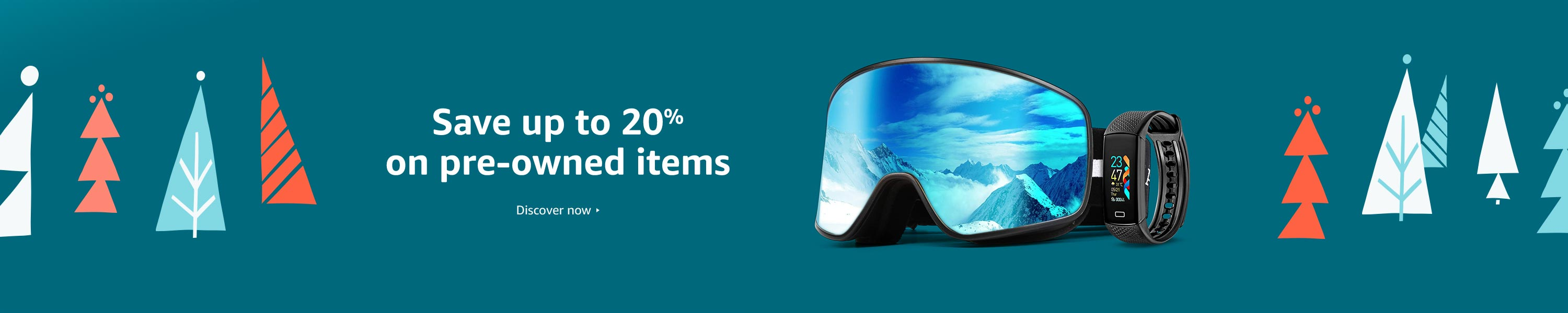 Save up to 20% on pre-owned items