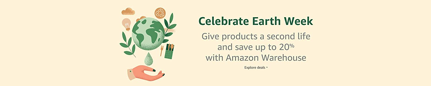 Celebrate Earth Week with Amazon Warehouse
